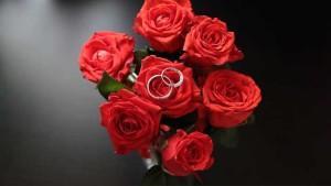 свадебный букет и кольца